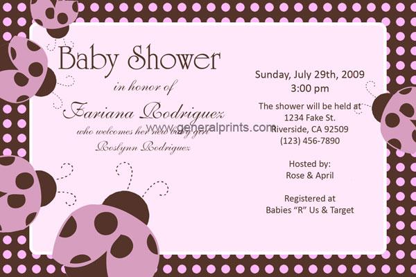 personalized ladybug baby shower invitations birthday printable