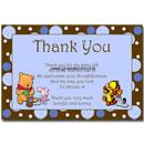 Winnie the Pooh Thank You Card Boy