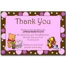 Winnie the Pooh Thank You Card Girl