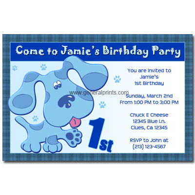 Blues Clues Coloring on Blues Clues Birthday Party Ideas   Serbagunamarine Com