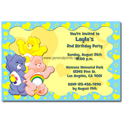 Iash Antiques Baby Blue Sitting Care Bear Soft Gift Online – Care Bear Birthday Invitations