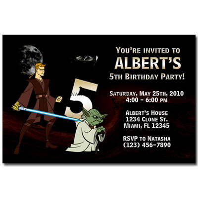 Star Wars Party Invitations. Party Invitations - Star