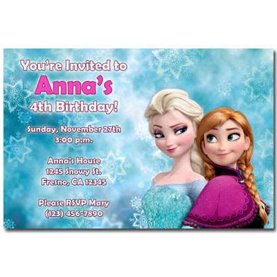 frozen invitations general prints story birthday party invitations