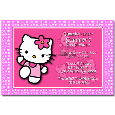 Housewarming Party Invitations Kitty Ticket Birthday