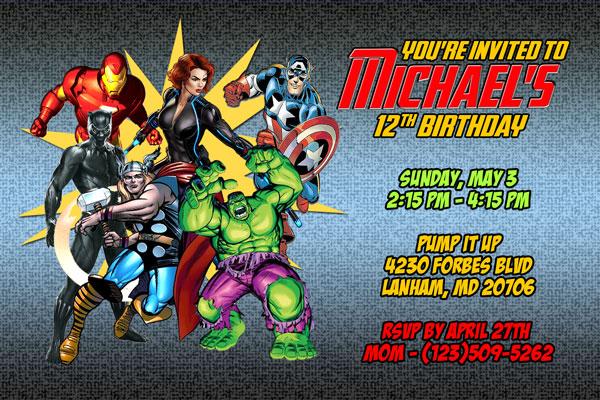 Avengers Invitations Superhero Printable – Free Digital Birthday Invitations