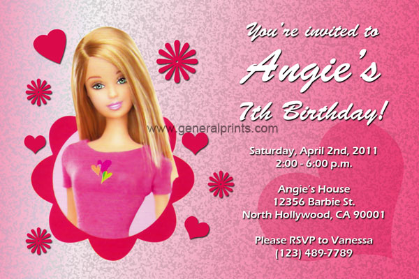 Barbie Invitations | General Prints