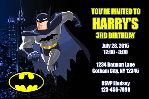 Batman Invitations General Prints