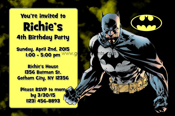 Batman Invitation #1
