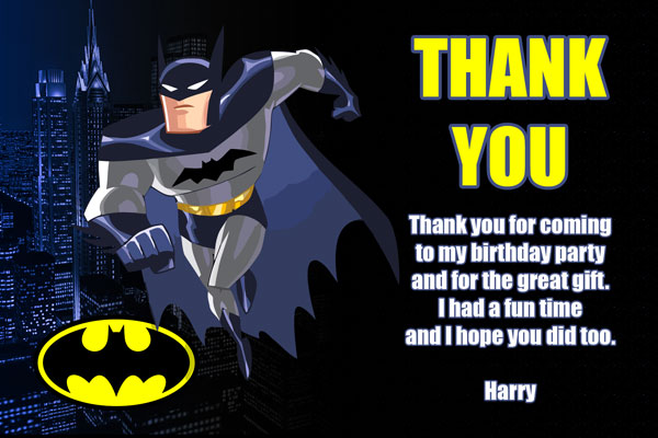 Batman Thank You Card #2
