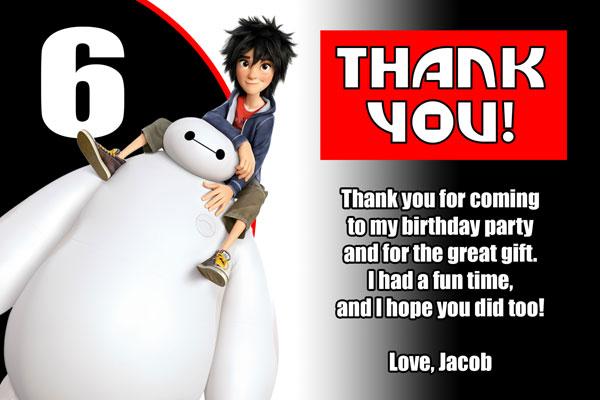 Big Hero 6 Thank You Card 2