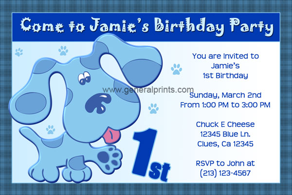 Blues Clues Invitations General Prints