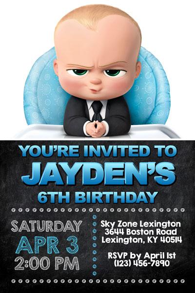 Boss Baby Invitations