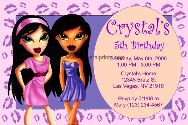 Home - Kids Birthday Party Invitations - Bratz Invitations