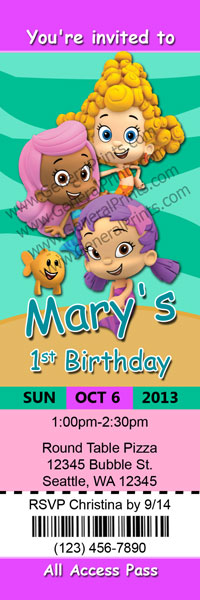 Bubble Guppies Invitations Templates is luxury invitation ideas