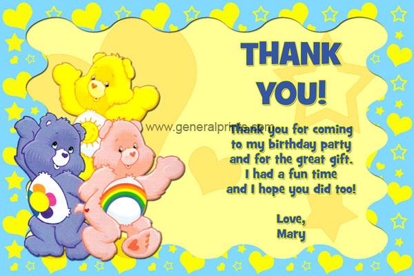 Care Bears Birthday Invitations – Care Bears Birthday Card