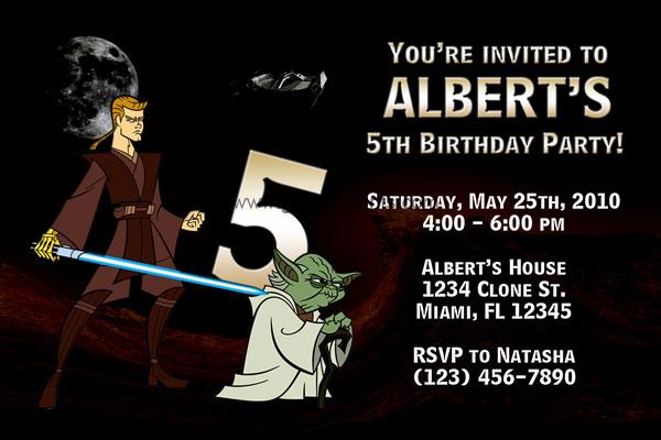 The Clone Wars Invitation