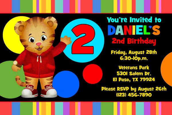 Daniel Tiger Invitations