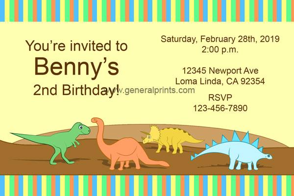 Jurassic World Dinosaur Invitations from General Prints