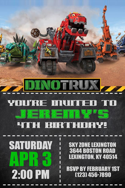 dinotrux invitations