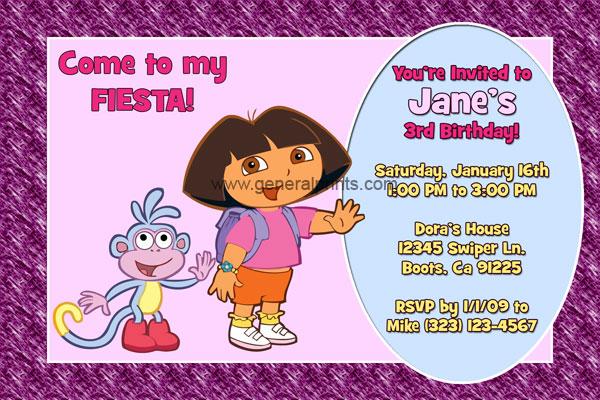 Dora the Explorer Invitation #2