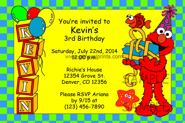 Elmo Invitation #2