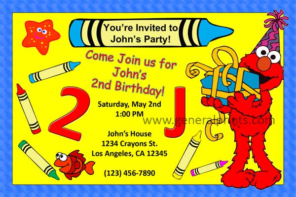 Elmo Invitation #4