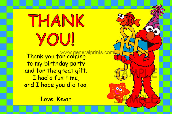 Elmo Thank You Card #2