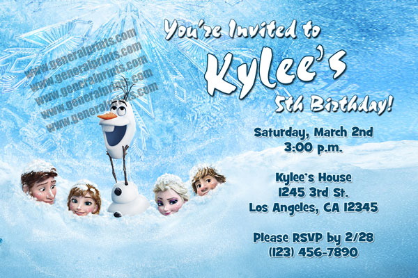 frozen invitations style 2