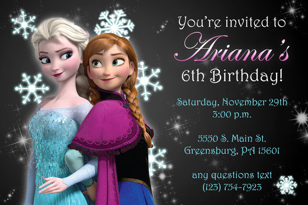 frozen invitations style 3