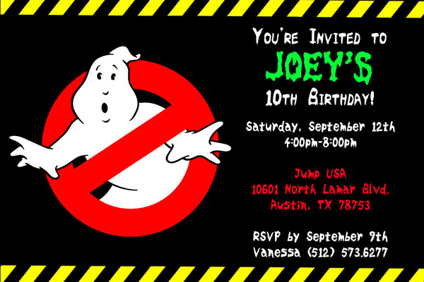 Ghostbusters Invitations - General Prints
