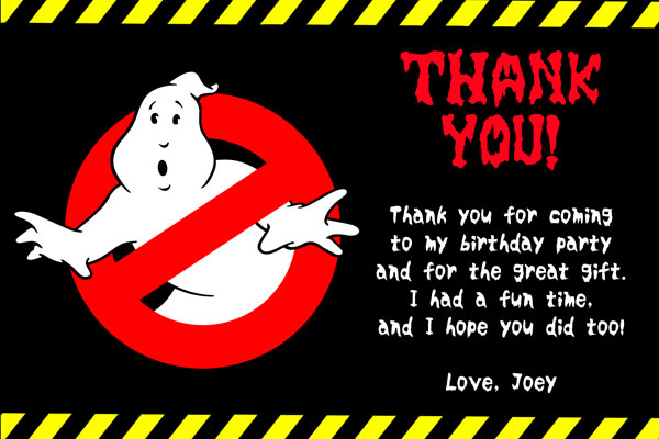 Ghostbusters Invitations General Prints
