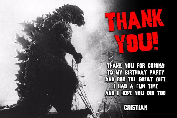 Pleasing Godzilla Invitations From General Prints Funny Birthday Cards Online Ioscodamsfinfo