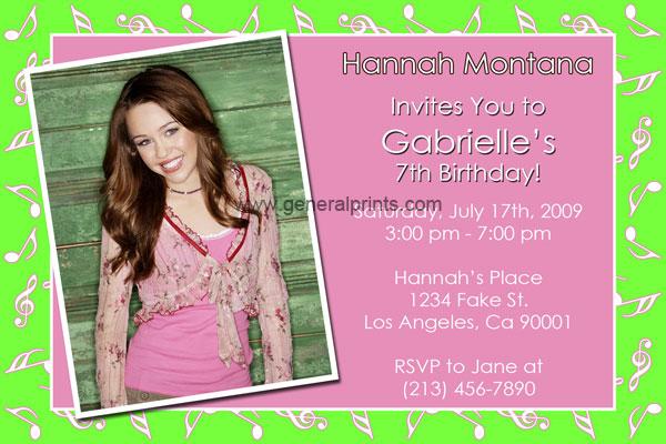 Free Printable Hannah Montana Birthday Pictures 47