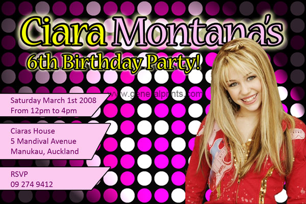 Hanna Montana Printable Picture Trials Ireland