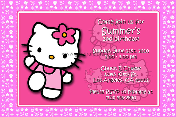 Home - Kids Birthday Party Invitations - Hello Kitty Invitations