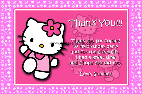 Hello Kitty Birthday Invitations – Hello Kitty Party Invitations Printable