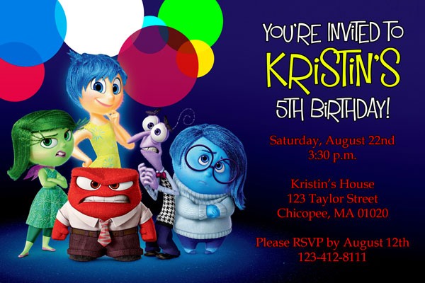 Inside Out Invitations By General Prints - Birthday invitations inside out