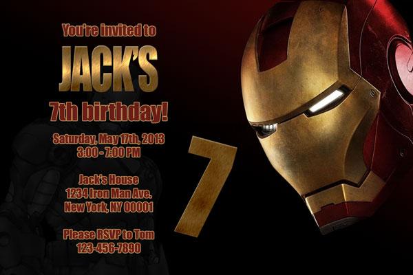 Coloring Pages Iron Man. Iron man Birthday Invitation
