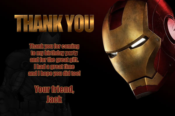 Iron Man Invitations Birthday Printable Superhero