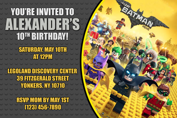 Lego Batman Movie Invitations - General Prints