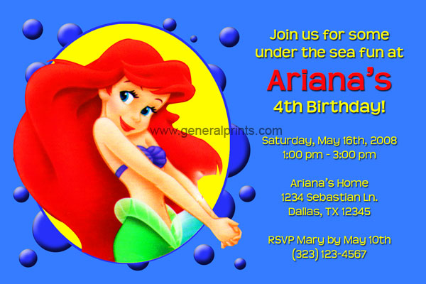 Little Mermaid Invitation #1