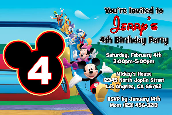 Mickey Mouse Clubhouse Invitations Minnie Mouse General Prints