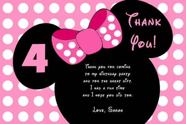 minnie mouse birthday invitations  general prints, Birthday card