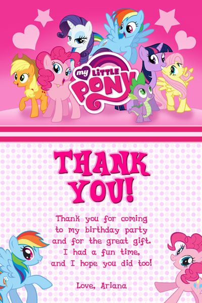 My Little Pony Invitations - Friendship is Magic