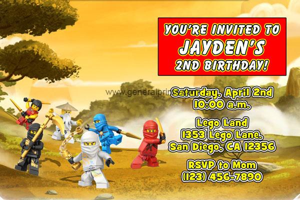 Lego ninjago invitations general prints ninjago invitation stopboris Gallery