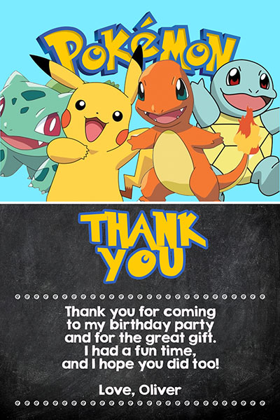 pokemon invitations with pikachu and ash