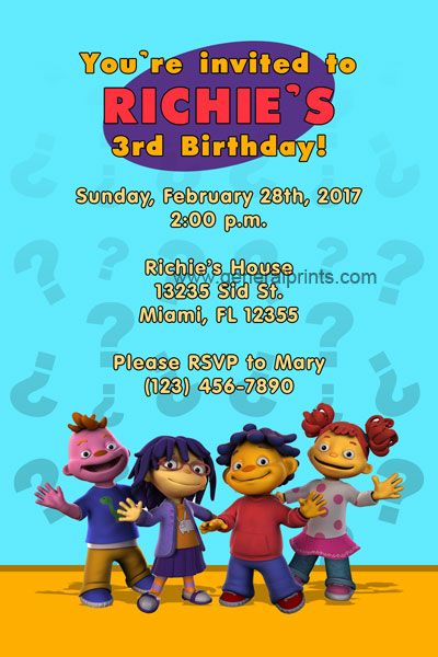 Sid the Science Kid Invitations | General Prints