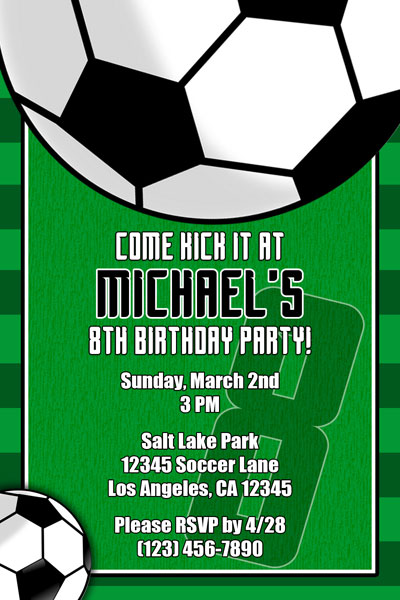 Soccer Invitations - General Prints