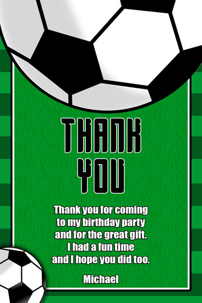 Soccer invitations general prints soccer thank you card filmwisefo Image collections