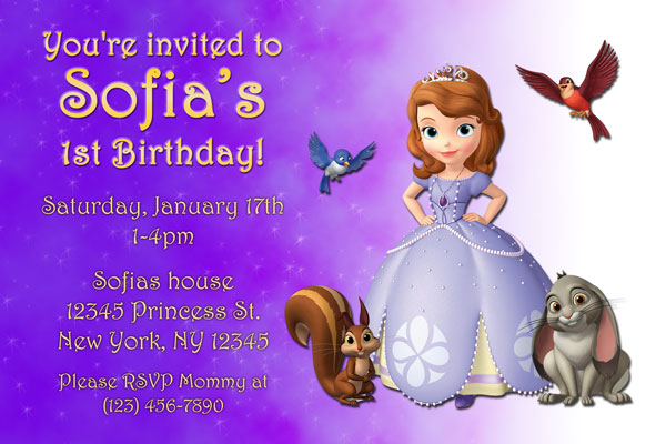 Sofia the first invitations general prints princess sofia the first invitation filmwisefo